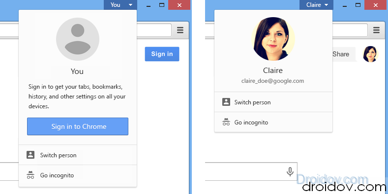 Chrome-beta-account-switcher