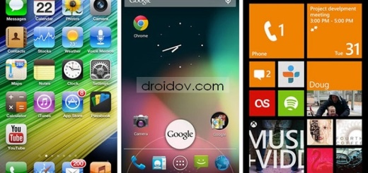 В данной статье нам бы хотелось сравнить такие популярные операционные системы для мобильных платформ как iOS 7, Windows Phone и Android Jelly Bean. Сравнение это будет максимально беспристрастное, так как нам необходимо оценить недостатки и преимущества каждой из этих систем. В первую очередь необходимо сказать, что у каждой этой системы недавно произошло обновление, например iOS 7 изменил свой дизайн, Android оптимизировал многозадачность и сменил способ набора текста, а Windows Phone дал возможность с технической точки зрения выпускать новые аппараты. Рассмотрим общие сведения каждой операционной системы: 1. Windows Phone. Данная система самая молодая из всех предложенных. По этой причине она принимает и учитывает опыт своих соперников, но с другой стороны она не такая популярная, что отражается на количестве сторонних приложений. Плюсы: интеграция системы не знает конкурентов по своей распространенности в особенности в России. Интерфейс очень интерактивный, а его реализация производится при помощи «живых плиток». В системе офисные приложения встроенные. При помощи NFC вы можете передать данные. Минусы: сторонних приложений очень мало в сравнении с конкурентами. Голосовой сервис недоработан. Для нашей страны навигация и картография неидеальная. 2. Android Jelly Bean. В нашей стране данная операционная система самая популярная, большинство производителей телефонов работают именно с ней. Так же из всех разработок она самая открытая. Плюсы: вне конкуренции карта Google. Голосовой сервис очень качественный. В наличии имеется большой выбор аппаратов. Минусы: далеко от идеала быстродействие аппарата. Обновления, которые выпускаются для андроида подходят не для всех аппаратов. 3. iOS 7. Довольно сильно поменялся дизайн экранов на новом айос, так же сменился вид настроек и встроенных приложений. Для некоторых пользователей это стало плюсом, а вот другие считают наоборот, но все же это дело вкуса. Здесь стоит смотреть на объективные факты. Плюсы: сенсорный экран очень кач