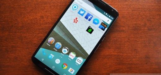 Nexus 6 панель