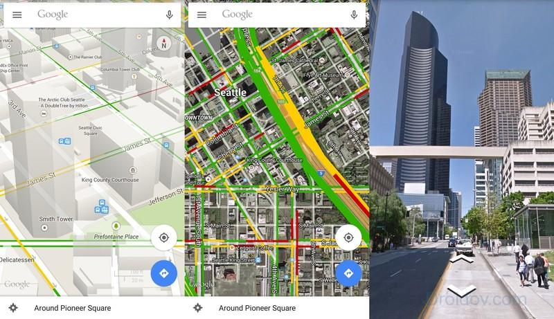 google-maps-various-views-screens