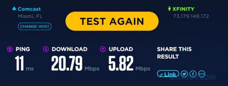 beta speedtest