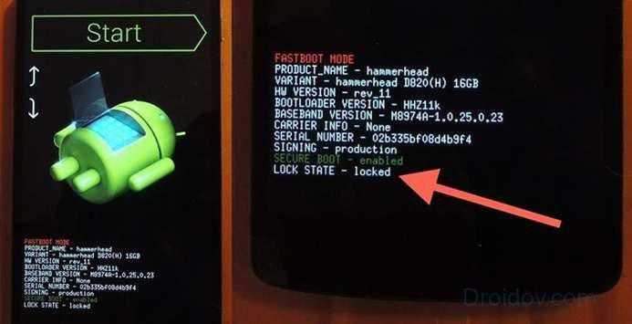 Загрузка смартфона с Fastboot Mode