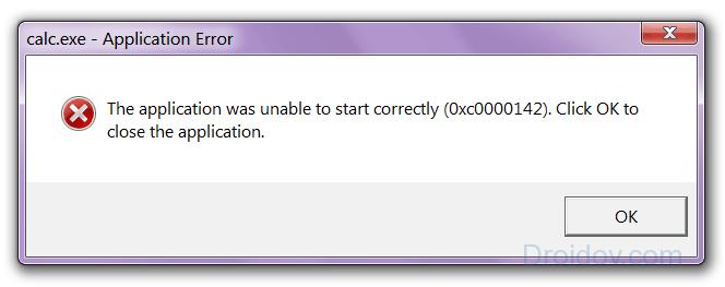 Ошибка 0xc0000142 на английском