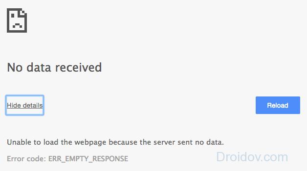 324 ошибка соединения с сервером