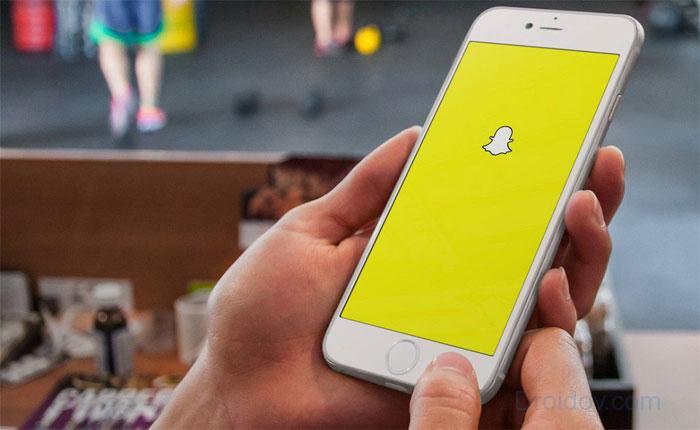 Приложение мессенджер Snapchat