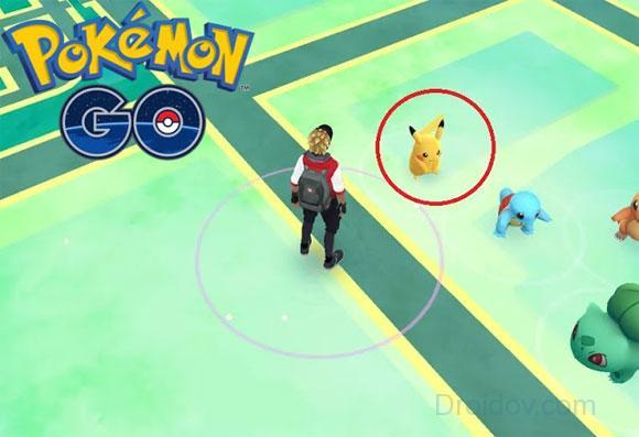 Ловля Pikachu в начале игры