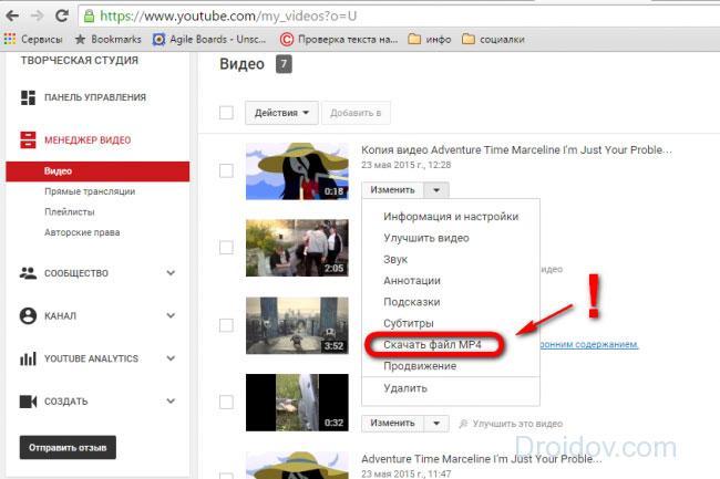 Скачиваем обрезанное видео mp4 из YouTube