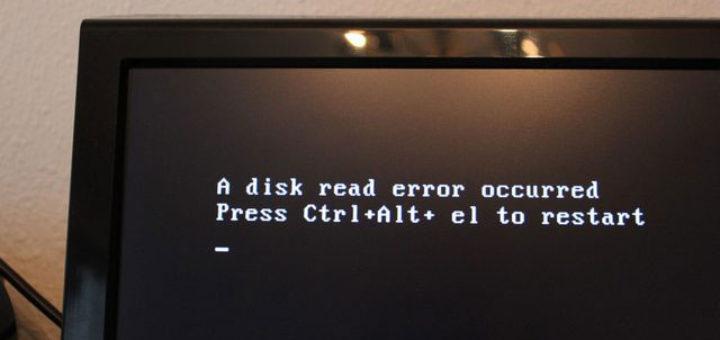 Что делать a disk read error occurred press ctrl alt del to restart