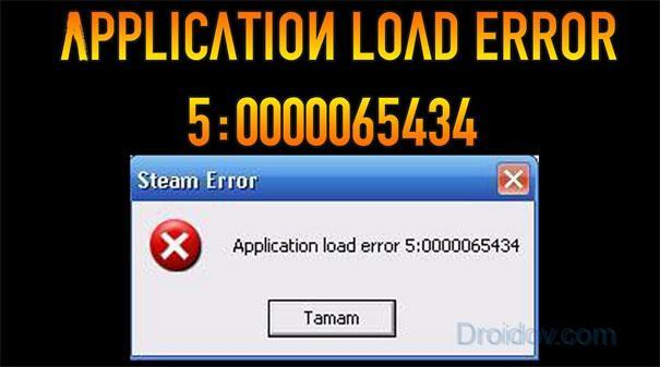 Что делать Application Load Error 5 0000065434