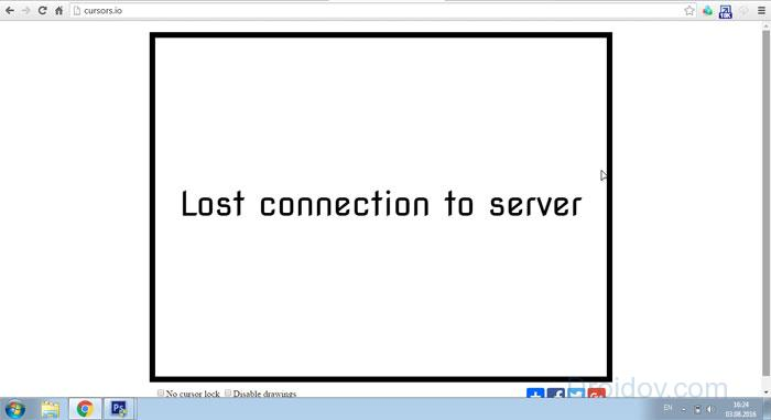 При входе в игру Курсорс - Lost connection to server