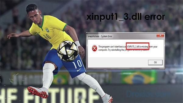 Ошибка xinput1_3.dll в игре