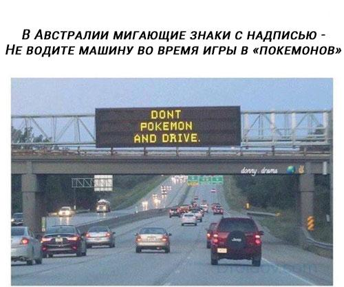 Не водите машину во время игры в «покемонов»