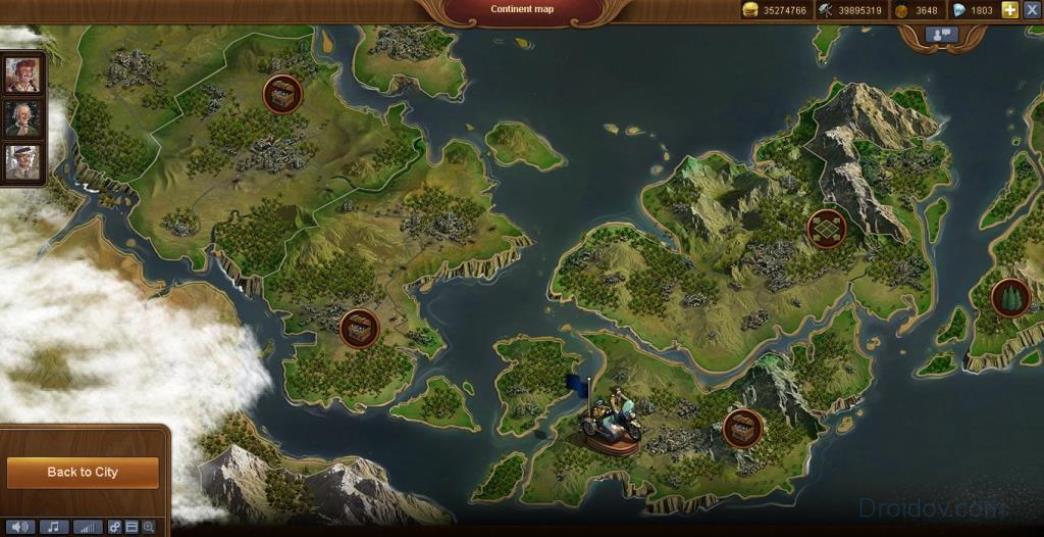 карта континента