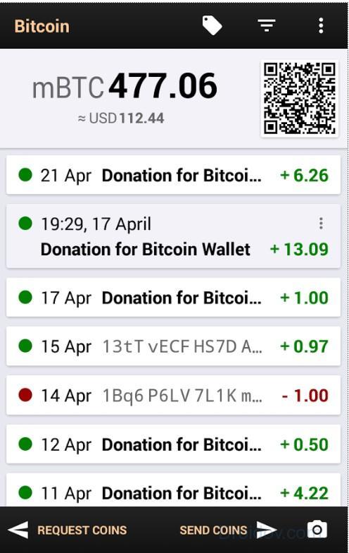 Мобильное приложение Bitcoin Wallet