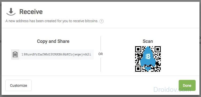 Получаем битоины в Blockchain