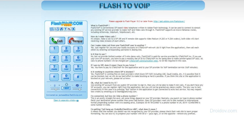 Flash2Voip