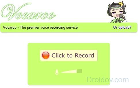 Сервис Vocaroo