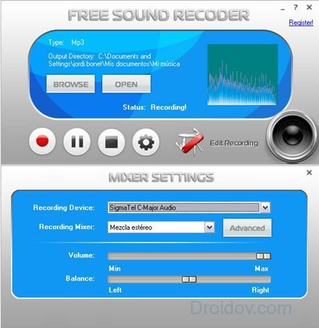 Программа Free Sound Recorder