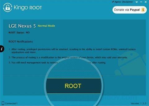 Получение root доступа через Kingo root Android