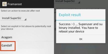 Получение root доступа через Framaroot