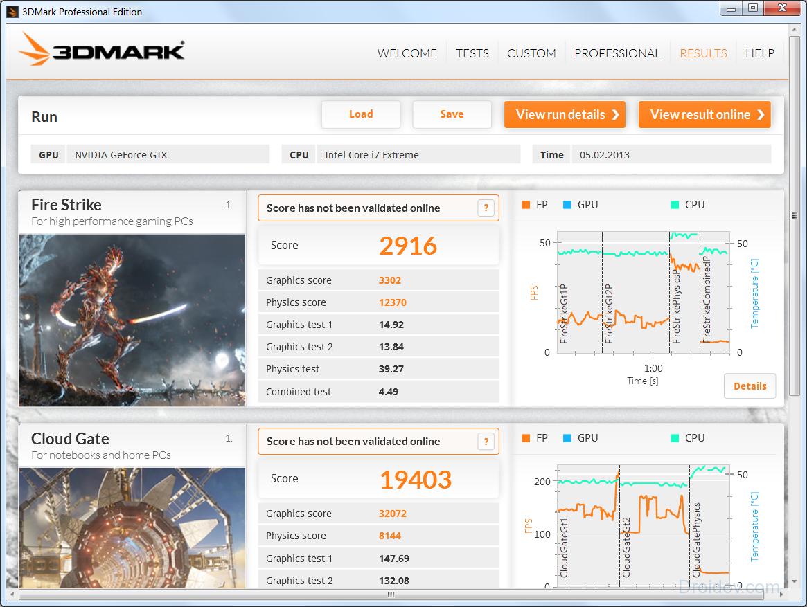 3DMark проверка видеоадаптера