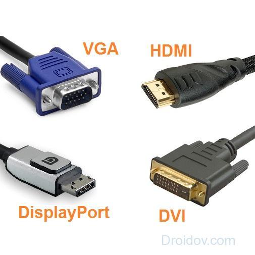 Типы видео кабелей