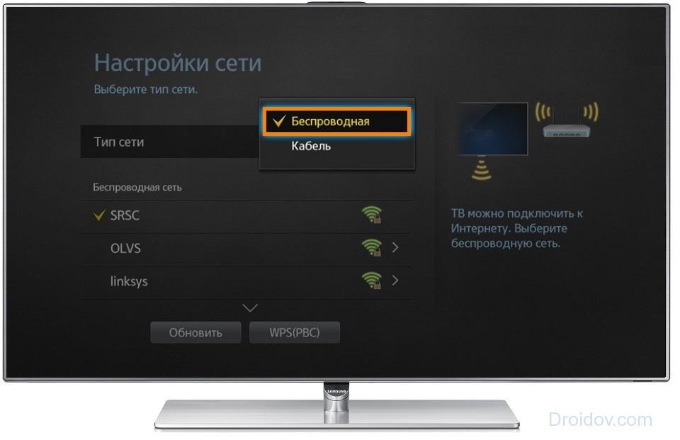 Настройка WiFi в телевизоре