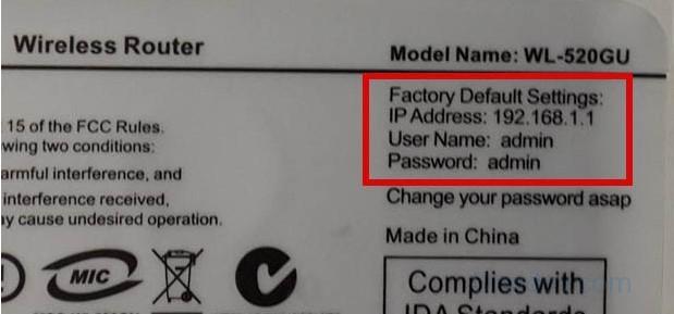 factory default settings