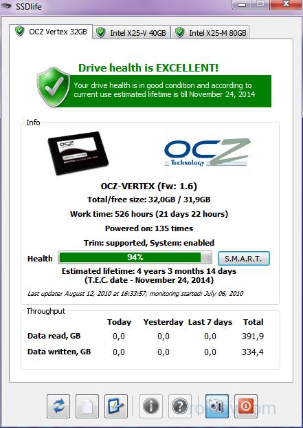 Интерфейс SSD Life