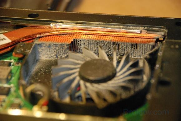 пыльный кулер в системном блоке