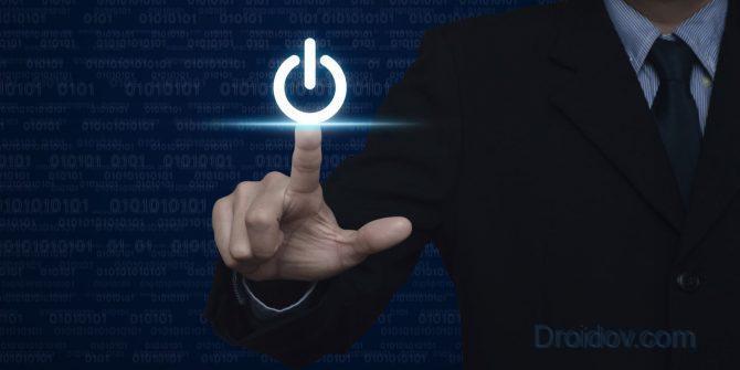 кнопка выключения компьютера