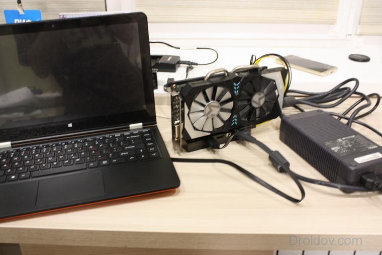 Ноутбук с внешней видеокартой