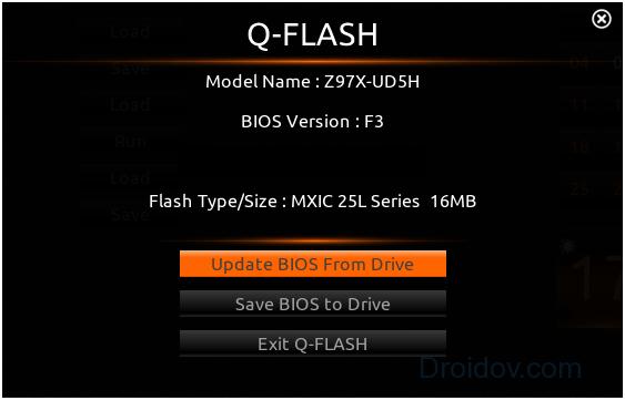 Прошивка внутри BIOS