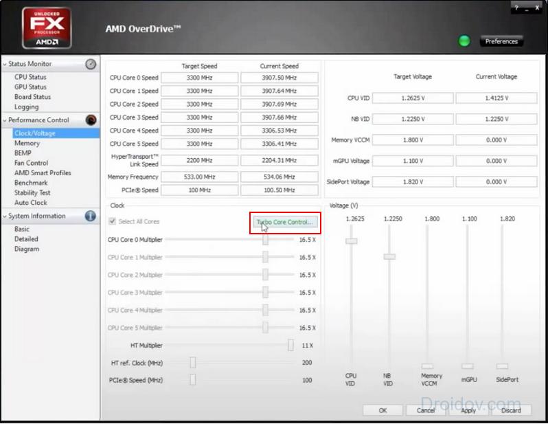 Разгон в AMD OverDrive