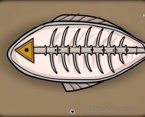 ключ-треугольник в рыбе