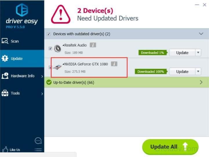 Обновление драйверов с помощью программы Driver Easy
