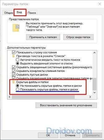 Как показать скрытые папки в Windows 10: 3 простых способа