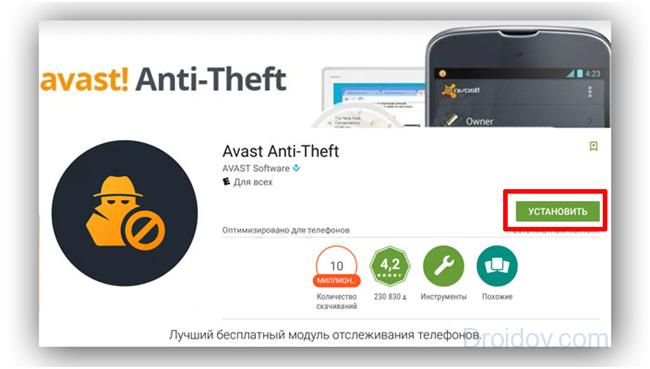 Сервис Avast Anti-Theft