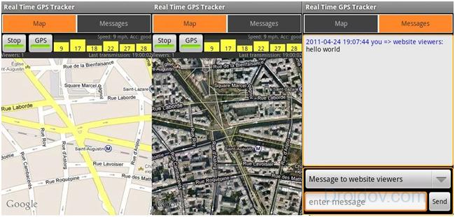 Real Time GPS Tracker